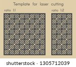 template for laser cutting....   Shutterstock .eps vector #1305712039