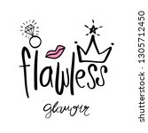 beautiful crown and flawless... | Shutterstock .eps vector #1305712450