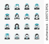 business people avatar icons | Shutterstock .eps vector #1305713926