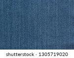 blue jean fabric texture... | Shutterstock . vector #1305719020