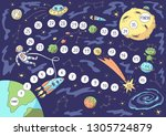 board game. vector illustration ... | Shutterstock .eps vector #1305724879
