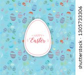 happy easter text with... | Shutterstock .eps vector #1305733306