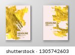 vector pink and gold design... | Shutterstock .eps vector #1305742603