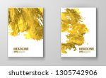 vector white and gold design... | Shutterstock .eps vector #1305742906