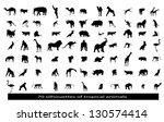 70 silhouettes of the african... | Shutterstock .eps vector #130574414