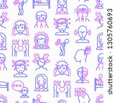 neurosis seamless pattern with... | Shutterstock .eps vector #1305760693
