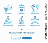 rehabilitation for disabled... | Shutterstock .eps vector #1305762850