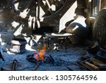 forge fire forge fire used for... | Shutterstock . vector #1305764596
