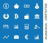money icon and finance icon set ... | Shutterstock .eps vector #1305767530