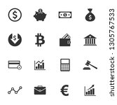 money icon and finance icon set ... | Shutterstock .eps vector #1305767533