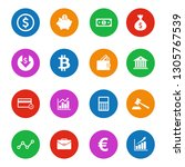 money icon and finance icon set ... | Shutterstock .eps vector #1305767539