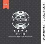 logo for the game of poker....   Shutterstock . vector #1305769276