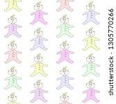 seamless pattern of cute babies ... | Shutterstock .eps vector #1305770266