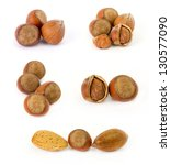 Collection of nuts - stock photo