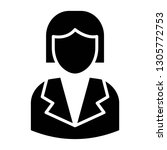 business woman icon design with ...