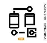 data transfer related vector... | Shutterstock .eps vector #1305781099