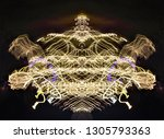abstract symmetrical... | Shutterstock . vector #1305793363