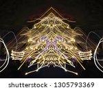 abstract symmetrical... | Shutterstock . vector #1305793369