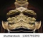 abstract symmetrical... | Shutterstock . vector #1305793393
