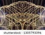 abstract symmetrical... | Shutterstock . vector #1305793396