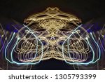 abstract symmetrical... | Shutterstock . vector #1305793399