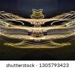 abstract symmetrical... | Shutterstock . vector #1305793423