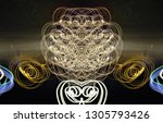 abstract symmetrical... | Shutterstock . vector #1305793426