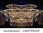 abstract symmetrical... | Shutterstock . vector #1305793429
