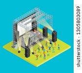 music festival concept 3d... | Shutterstock . vector #1305803089