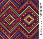 ethnic geometric ornament.... | Shutterstock .eps vector #1305805009
