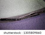 close up shot of a frozen car... | Shutterstock . vector #1305809860