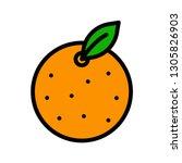 orange vector  chinese lunar...   Shutterstock .eps vector #1305826903