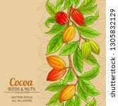 cocoa vector background   Shutterstock .eps vector #1305832129