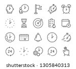 set of time icons  such as... | Shutterstock .eps vector #1305840313