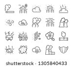 set of air pollution icons ... | Shutterstock .eps vector #1305840433