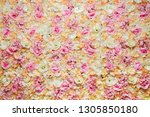 floral background. wall of silk ... | Shutterstock . vector #1305850180