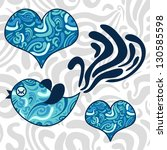 romantic illustration of blue...   Shutterstock .eps vector #130585598