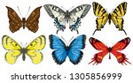 collection of various... | Shutterstock .eps vector #1305856999