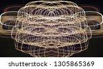 abstract symmetrical... | Shutterstock . vector #1305865369