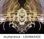 abstract symmetrical... | Shutterstock . vector #1305865420