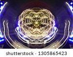 abstract symmetrical... | Shutterstock . vector #1305865423