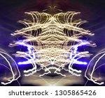 abstract symmetrical... | Shutterstock . vector #1305865426