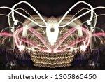 abstract symmetrical... | Shutterstock . vector #1305865450