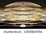 abstract symmetrical... | Shutterstock . vector #1305865456