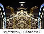 abstract symmetrical... | Shutterstock . vector #1305865459