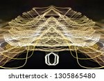 abstract symmetrical... | Shutterstock . vector #1305865480