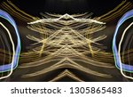 abstract symmetrical... | Shutterstock . vector #1305865483