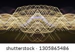 abstract symmetrical... | Shutterstock . vector #1305865486