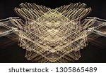 abstract symmetrical... | Shutterstock . vector #1305865489