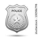 vector police badge isolated on ... | Shutterstock .eps vector #130586798